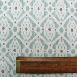 HOME FURNISHING IKAT LINEN MIX GEOMETRIC - STEVIE IN DUCK EGG