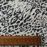 Home Furnishing Linen Look Cotton Mix -Graphic Leopard Print