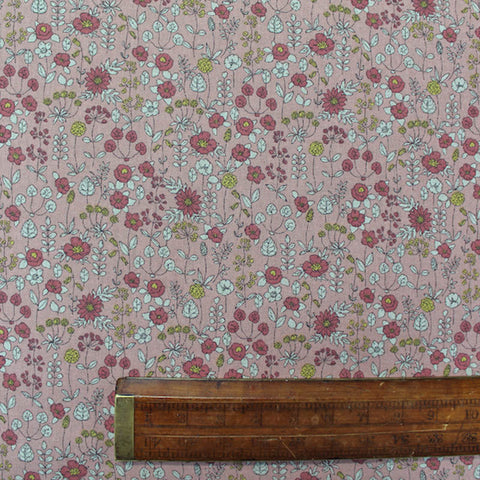 Home Furnishing Pink Floral Linen Look - Belle De Londres