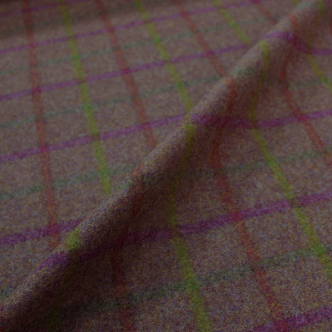 Home Furnishing Wool - Brown and Orange Check - Mackintosh
