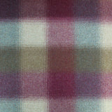 Home Furnishing Wool from Abraham Moon - Moss and Lavender Large Check - Cameron
