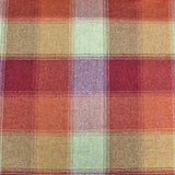 Home Furnishing Wool from Abraham Moon - Orange Check  - Murray