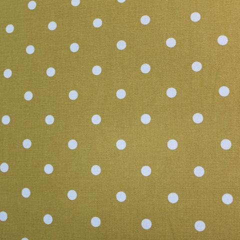 Spots Home Furnishing Fabric - Mustard Yellow