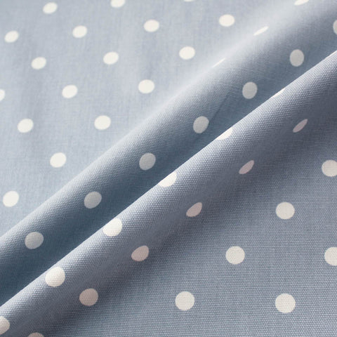 Spots Home Furnishing Fabric - Pale Blue/White