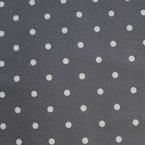Spots Home Furnishing Fabric - Steel Grey