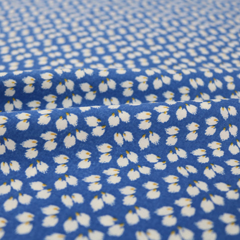 Printed Spun Viscose Petra in Royal Blue