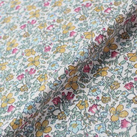 Seasonal Meadow - Pinks and Yellow - Liberty Cotton Lawn