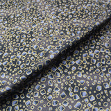 Patchwork and Quilting -Metallic Black Cotton - Broken Glass