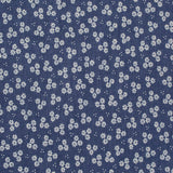 Mid Blue Chambray - Pushing White Daisies