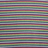 1x1 Circular Multi Coloured Cotton Rich Ribbing - Muted Jelly Bean Stripe