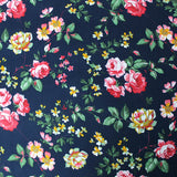 Needlecord Cotton Navy Blue - Traditional English Rose