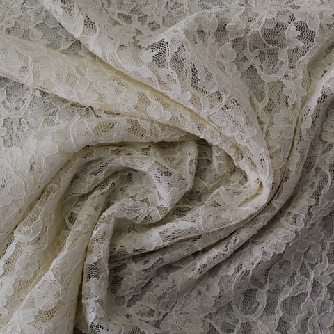 Nylon Corded Lace: Soft Cream