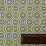 Olive Geometric Woven Jacquard Home Furnishing