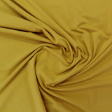 Organic Cotton with Elastane Jersey - Mustard Yellow