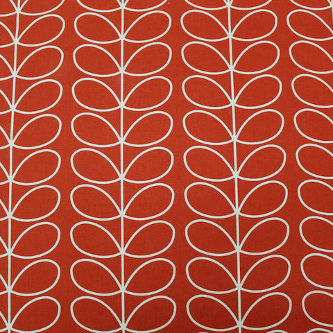 Orla Kiely Home Furnishing Fabric Linear Stem - Tomato