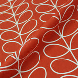 Orla Kiely Home Furnishing Fabric Linear Steam - Tomato