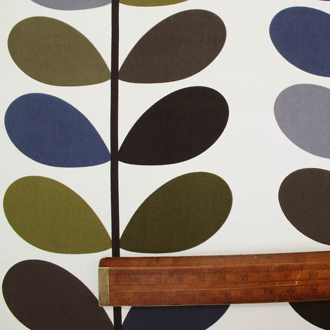 Orla Kiely Home Furnishing Fabric Multi Stem - Moss