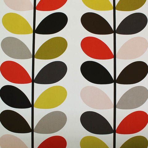 Orla Kiely Home Furnishing Fabric Multi Stem - Tomato