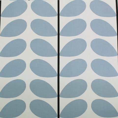 Orla Kiely Home Furnishing Fabric Two Colour Stem - Powder Blue