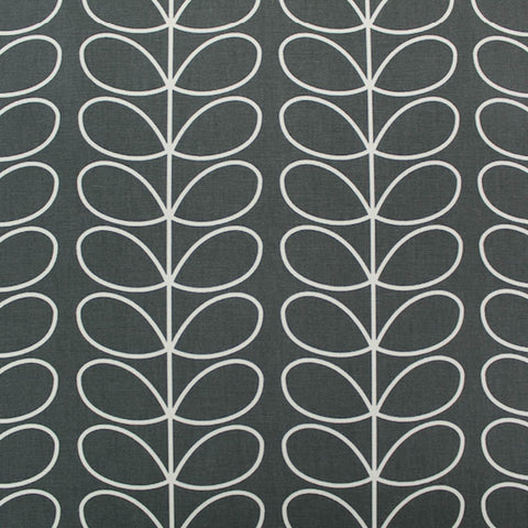 Orla Kiely Home Furnishing Fabric Linear Stem - Cool Grey