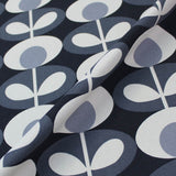 Orla Kiely Home Furnishing Fabric Oval Flower - Cool Grey