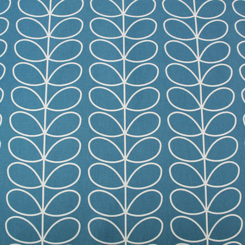 Orla Kiely Home Furnishing Fabric Linear Stem - Deep Duck Egg