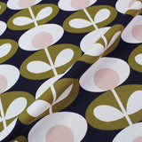 Orla Kiely Home Furnishing Fabric Oval Flower - Seagrass