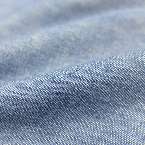Stonewashed Cotton Denim - Medium Blue