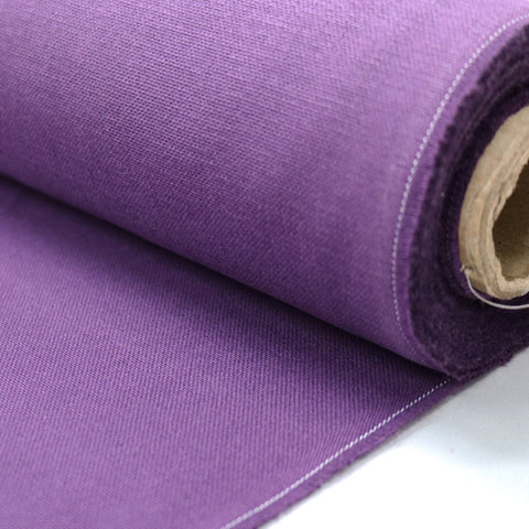 Brushed Panama Weave Home Furnishing Fabric - Plum