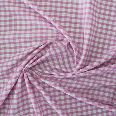 Corded Gingham - Pale Pink