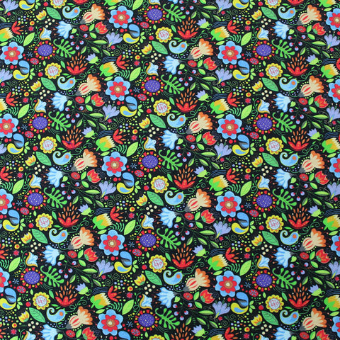 Dressmaking Cotton - Black  - Funky Meadow