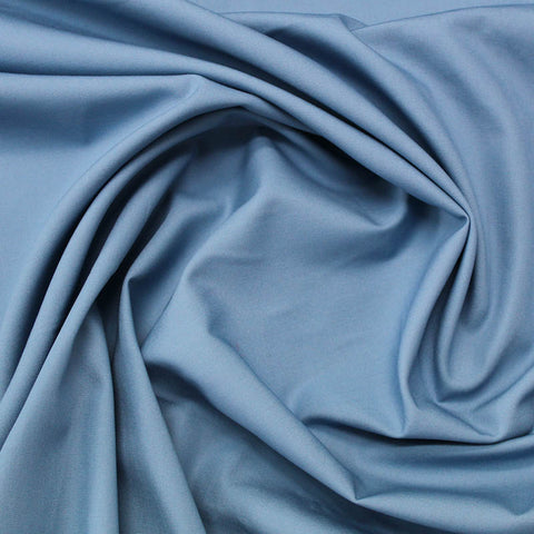 Periwinkle Plain Blue Cotton Poplin