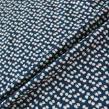 Printed Spun Viscose Petra in Navy Blue