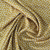 Printed Spun Viscose Petra in Mustard Yellow