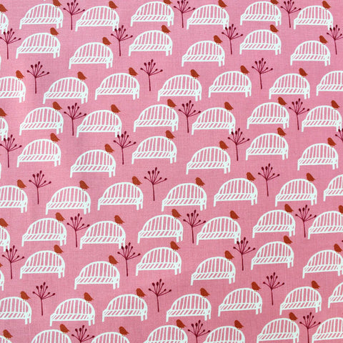 Printed Pink Cotton - Barefoot in the Park