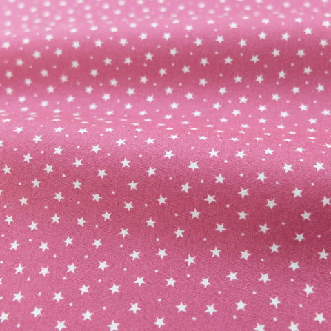 Printed Cotton Stars and Spots - Ballerina Pink