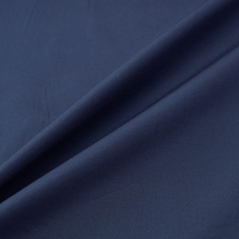 Plain French Navy Blue Cotton Poplin