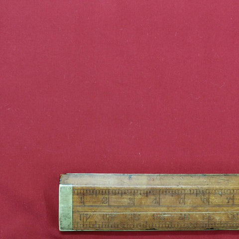 Plain Red Cotton Poplin - Claret