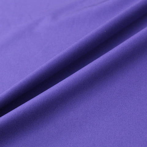 Plain Purple Cotton Poplin - Blackcurrant