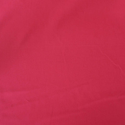 Raspberry Plain Red Cotton Poplin