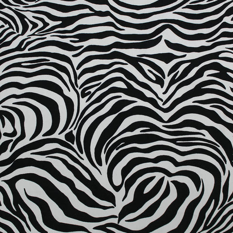 Printed Cotton Zebra Print - Abbey Road