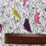 Printed Bird Cotton - Hello There - Pink/Purple