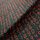 Printed Black Cotton - Kraftwerk - Black and Red