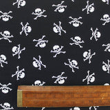 Printed Novelty Black Cotton - The Jolly Roger