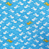 Printed Blue Bird Cotton - Dove from Above