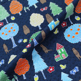 Printed Blue Cotton - Otter's House