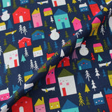 Printed Christmas Cotton - The children were nestled all snug in their beds