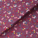 Dressmaking Floral Cotton Corduroy - Muted Purple - Louisa