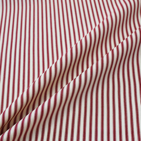 Printed Stripe Cotton - Antique Red and Cream Ticking
