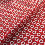 Cotton Poplin Printed - Bakewell Hearts - Red
